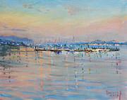 Ylli Haruni - Sunset in Piermont Harbor NY