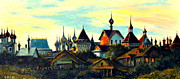 Shed Painting Prints - Sunset in Rostov Print by Henryk Gorecki