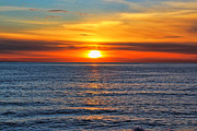 San Clemente Framed Prints - Sunset in San Clemente Framed Print by Mariola Bitner