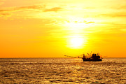 Light Tackle Posters - Sunset in the Gulf of Thailand Poster by Alexey Stiop