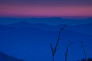Haze Photo Framed Prints - Sunset in the Smokies Framed Print by Andrew Soundarajan