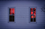 Sunset In The Windows Print by Cheryl Baxter