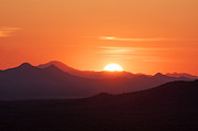 Tucson Art - Sunset in Tucson Arizona by Julia Hiebaum