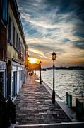 Sunset In Venice Print by Stefan Hoareau