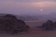 Sunset In Wadi Rum Jordan Print by Alison Buttigieg
