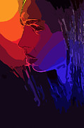 Sensual Digital Art - Sunset in your Face by Stefan Kuhn