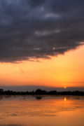 Lake Digital Art Prints - Sunset Print by Jaroslaw Grudzinski