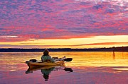 Featured On Fineart America - Sunset Kayaker by Sean Griffin