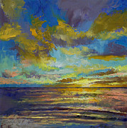 Lhuile Posters - Sunset Key Largo Poster by Michael Creese