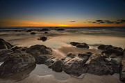 Top Seller Prints - Sunset - Lincoln Beach Print by Tin Lung Chao