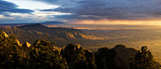 Sandia Mountains Photos - Sunset Monsoon over Albuquerque by Matt Tilghman