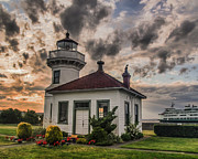 Sound Art - Sunset Mukilteo Lighthouse by Puget  Exposure