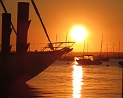 Featured Photo Originals - Sunset on a harbor by Kailash Patil