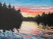 Pallet Knife Originals - Sunset on Buckhorn Lake by Scott White