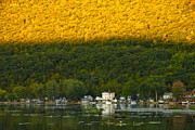 Finger Lakes Photo Originals - Sunset on Canandaigua Lake by Steve Clough