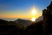 Italian Sunset Posters - Sunset On Capri - Italy Poster by Mark E Tisdale