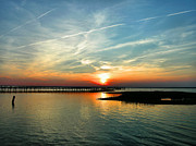 Chincoteague Island Prints - Sunset on Chincoteague Bay Print by Steven Ainsworth