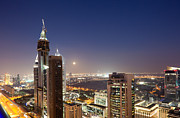 Fototrav Print - Sunset on Dubai Skyline cityscape