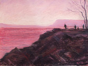Edge Pastels - Sunset on Fishing Day by Laura Sullivan