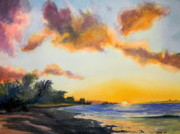 Todd Derr Prints - Sunset On Kaena Point Print by Todd Derr