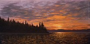 Paul K Hill - Sunset on Kayak Point