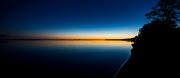 Deep Reflection Posters - Sunset On Lake Milacs Poster by Paul Freidlund