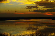 Solace Prints - Sunset On Medicine Lake Print by Jeff  Swan