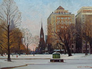 Dianne Panarelli Miller - Sunset on Newbury St