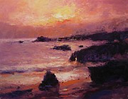 R W Goetting - Sunset on Pismo Beach