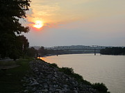A Summer Evening Landscape Photos - Sunset on St. Albans / Nitro Bridge by Kimberly Brown