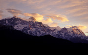 Slide Photographs Framed Prints - Sunset on the Annapurnas - Nepal Framed Print by Craig Lovell