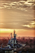 Chris Brehmer Photography - Sunset on the Battleship