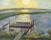 Sunset On The Bay Print by Rita Brown