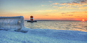 Sea Ice Prints - Sunset on the Chesapeake  Print by JC Findley