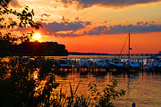 Hyatt Hotel Prints - Sunset on the Chesapeake Print by Jost Houk
