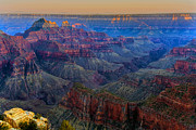 Canyon Pyrography Framed Prints - Sunset on the North Rim of the Grand Canyon HDR Framed Print by Mark Greenawalt