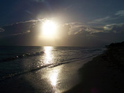 Tropical Photographs Photos - Sunset on the Ocean_1 by Albert Kupershmidt