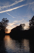 Heber Springs Prints - Sunset on the River Print by Phil Rispin