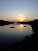 Joe Cashin Framed Prints - Sunset on the river Suir Framed Print by Joe Cashin