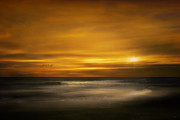 Sunset Seascape Framed Prints - Sunset On The Surf Framed Print by Tom York
