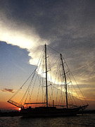 Scenic Photos - Sunset on the Turkish Gulet by Anne Mott