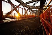 Sunset On The Williamsburg Bridge - New York City Print by Vivienne Gucwa