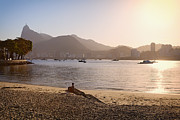 Redeemer Art - Sunset on Urca Beach by George Oze