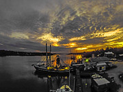 Pier Digital Art Originals - Sunset Over Aquila by Michael Thomas