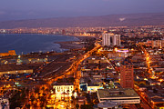 Evening Scenes Photos - Sunset over Arica Chile by James Brunker
