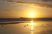 Beach Scenery Prints - Sunset over Barwon Heads Print by Linda Lees