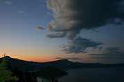 Crater Lake Sunset Photos - Sunset over Crater Lake by Calley Duvall