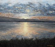 Surreal Landscape Painting Metal Prints - Sunset Over Donegal Metal Print by Patrick J Murphy