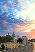 Moscow Photos - Sunset Over Kremlin Embankment by Viacheslav Savitskiy