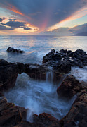 Spill Prints - Sunset over Lanai Print by Mike  Dawson